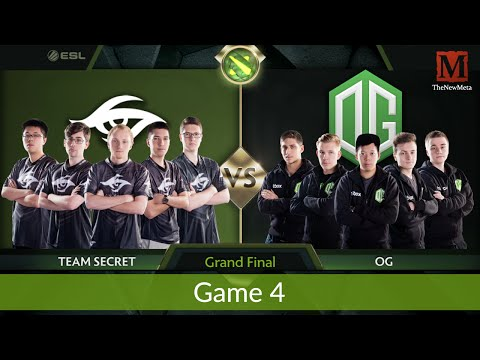 Secret vs OG (Game 4 Grand Finals) (Frankfurt Major) Full Ga