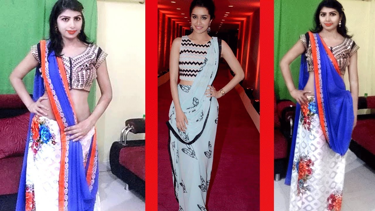 a4fa22dde54 How To Wear Bollywood Saree Draping Like Shraddha Kapoor Style Tutorial