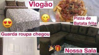 NOSSO SOFÁ E GUARDA ROUPA CHEGARAM!! VLOGÃO PRA VOCÊS - Amanda Silva