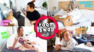 SWITCHING ROOMS with my Roommates for 24 Hours Challenge!!  *this was hilarious!!