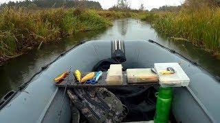 видео Ловля щуки с лодки