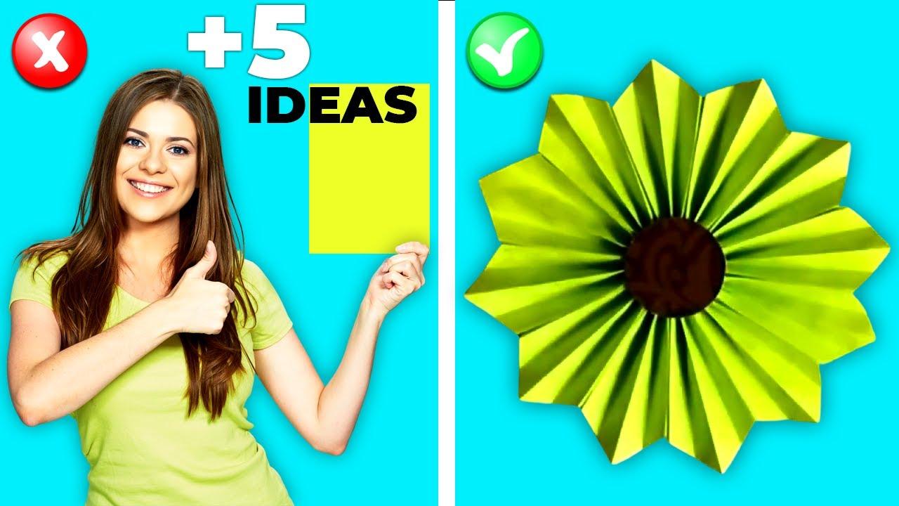 6 Easy Paper Flowers Craft Ideas (DIY Flowers)