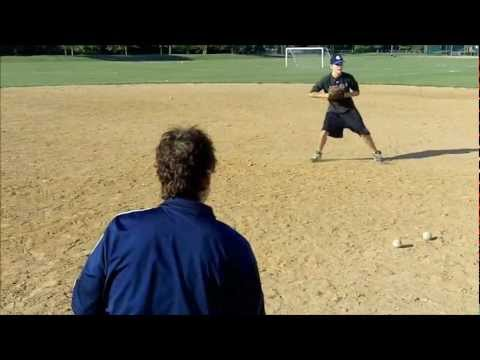 Teaching players how to catch a baseball