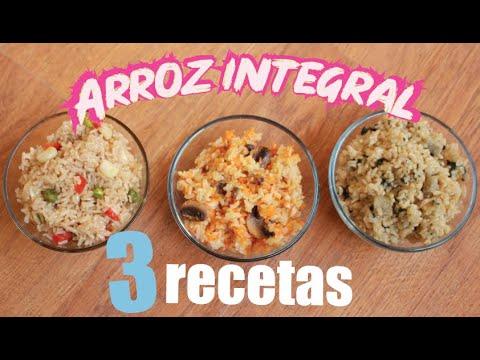 3 RECETAS CON ARROZ INTEGRAL FACIL Y RICO