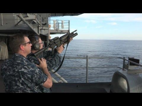 Sailors Shoot M203 Rifle Grenade Launcher