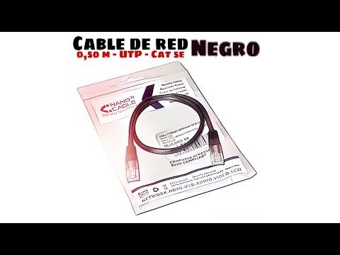 Video de Cable de red UTP CAT5E 0.50 M Negro