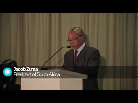 President of South Africa Jacob Zuma Addresses the World Climate Summit