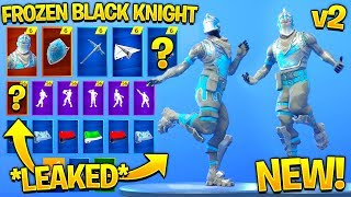 * NEW * Frozen Black Knight Showcase com todas as danças Fortnite vazadas..! (Animar, shuffle preguiçoso)
