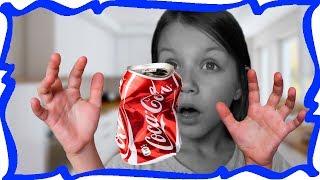 Крутой ПРАНК РОЗЫГРЫШ с Пепси Колой Фокус Пустая Банка Сама Наполняется Пепси Для Детей /// Вики Шоу