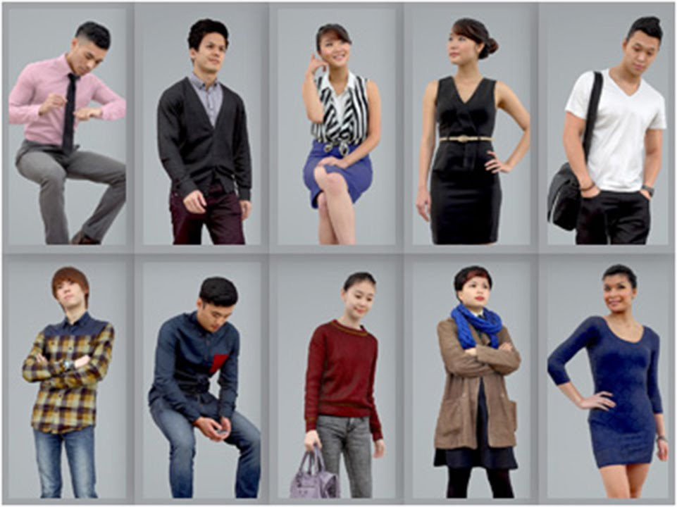 3D Human Models: Bundle of Realistic Asians for 3ds Max ...