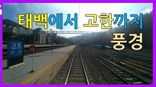 멍때리기 용도로 촬영한 태백에서 고한까지 열차 밖 풍경