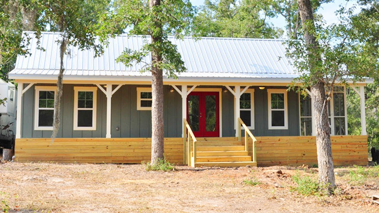 Park Model Cottage Cabin 16x40 w Screen Porch| Lovely Tiny House