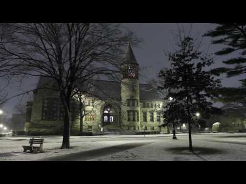 Late Night Snowfall at Ohio State