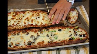 Быстрая пицца в хлебе (батоне) за 5 минут - самая быстрая пицца!
