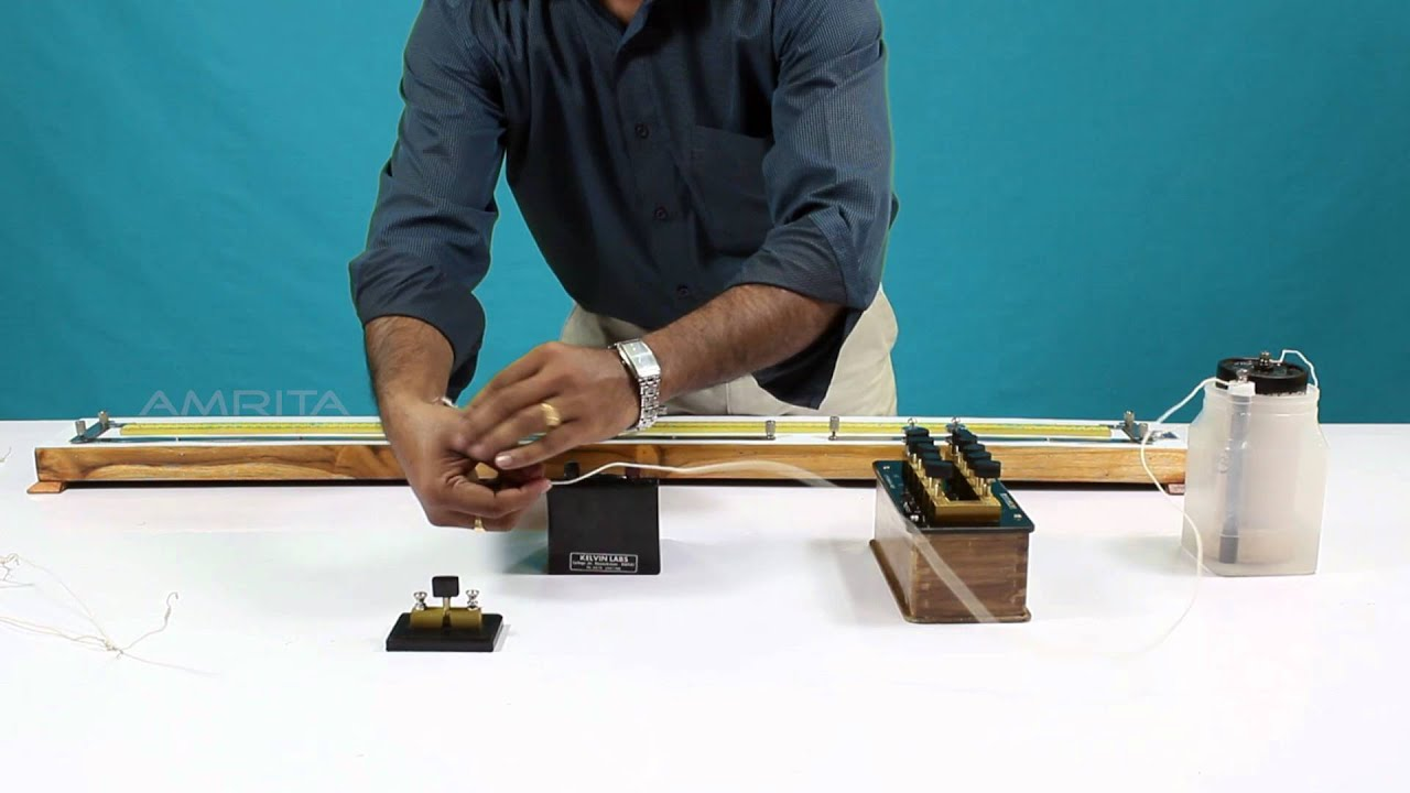 Metre bridge-Resistance of a wire - MeitY OLabs - YouTube