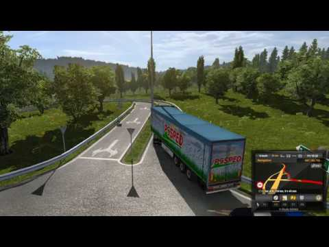 Scania S series - Relaxing truck driving in rain - ETS2 - Realistic  graphics mod