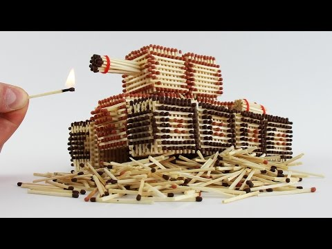 Thumbnail: How to Make a Tank from Matches Without Glue ! Will I Burn it ?