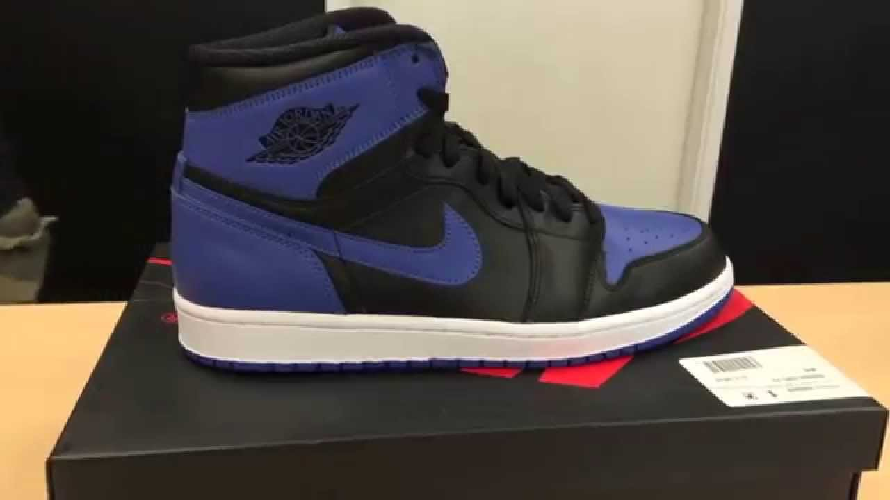 ca97ddc96ad6 Air Jordan 1 Royal Blue 2001 vs 2013 Sneaker Comparison - YouTube
