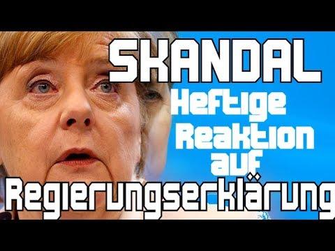 AFD: Erste Scharfe Antwort auf Merkels Regierungserklärung -  Gauland Merkel