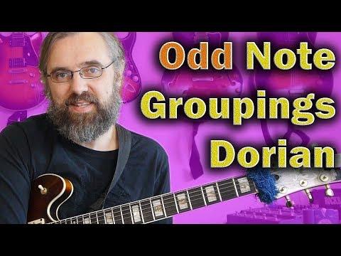 Odd Note Groupings - Dorian Guitar lick in Gm
