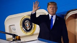 Trump arrives in Singapore for summit with North Korea's Kim Jong-un