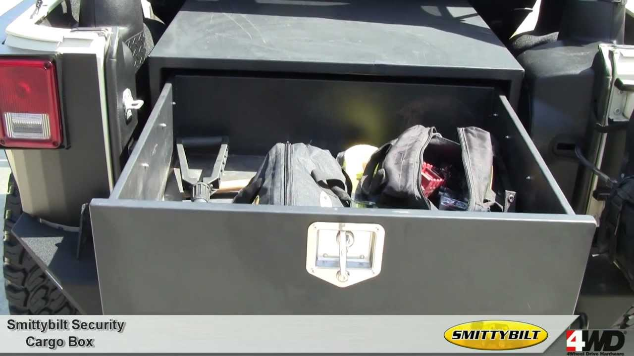 smittybilt secure locking cargo box for jeep wrangler jeep universal storage boxes Jeep Storage Box Plans