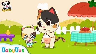 ❤ Don't Run With A Toy In Your Hand | Baby Kitten's Outdoor Picnic | Kids Safety Tips | BabyBus