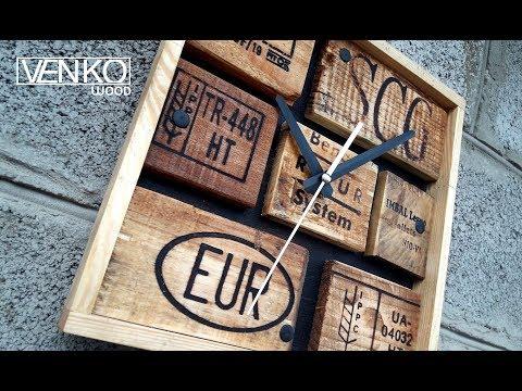 Pallet Loft Wall Clock | Настенные часы Лофт из паллет