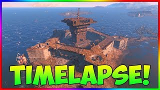 Fallout 4 - The Castle Settlement Build Timelapse With Mods
