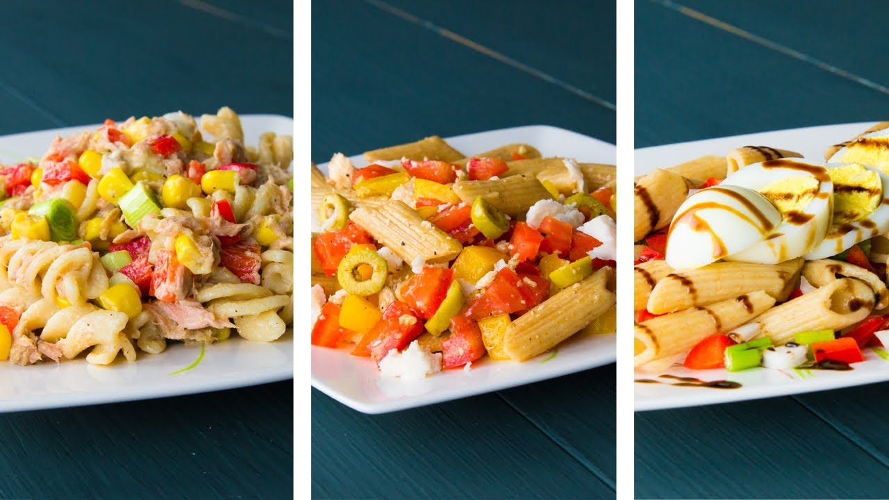 3 Healthy Pasta Salad Recipes For Weight Loss Youtube