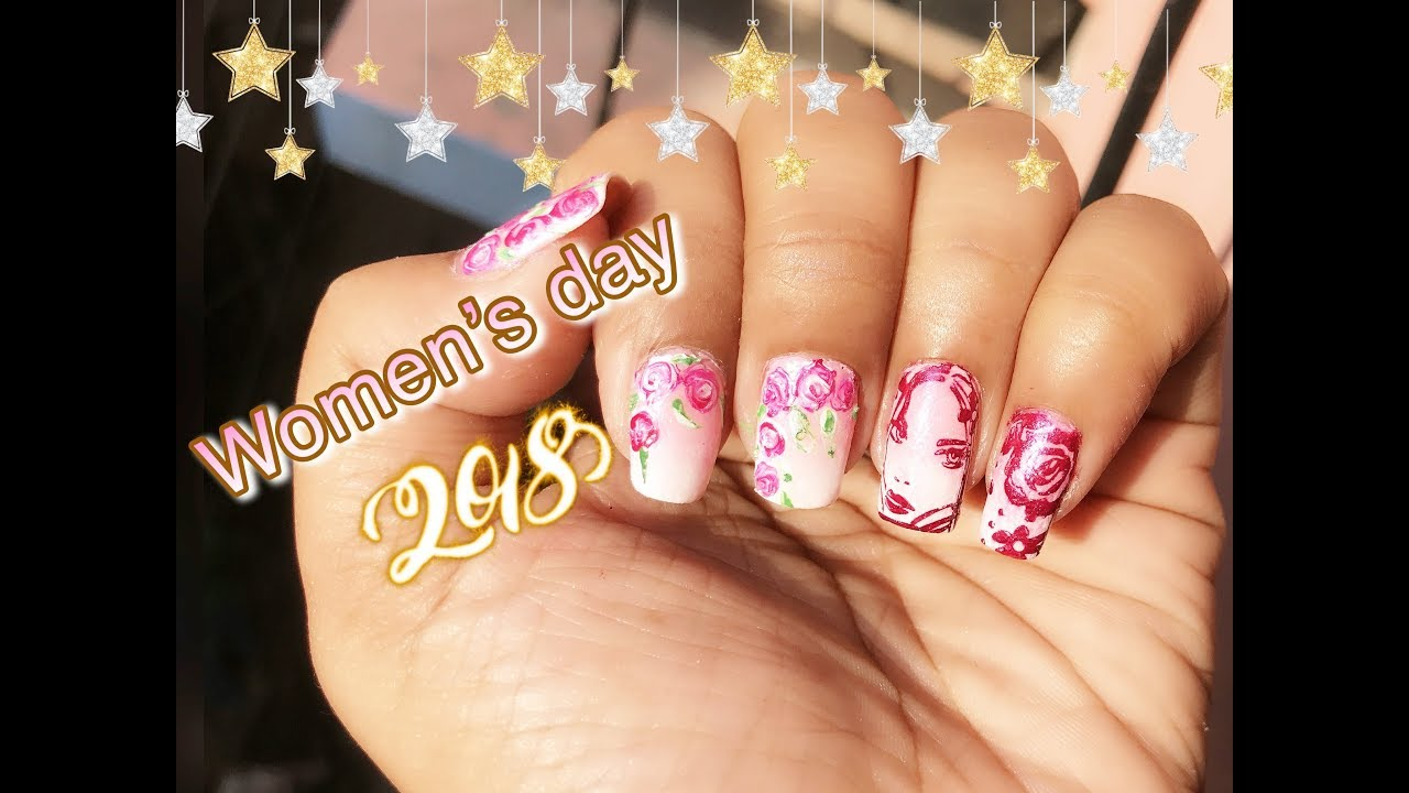 Women\'s Day Nail Art for Competition 2018 - YouTube
