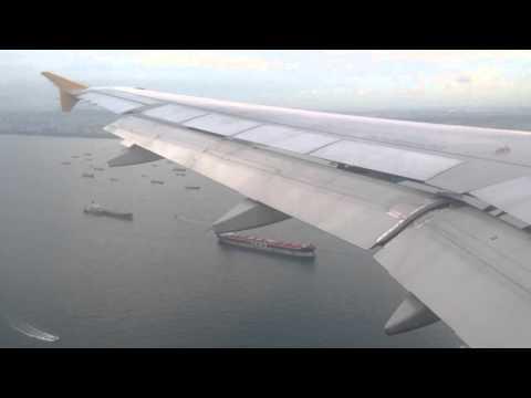 Tiger Airways landing in Singapore