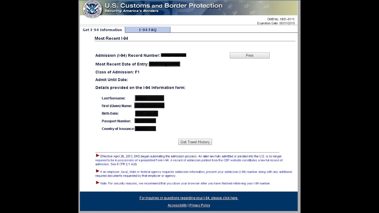 i 94 form for ssn  K10 Fiance Visa - How to check your I 10 (Requirements for SSN)