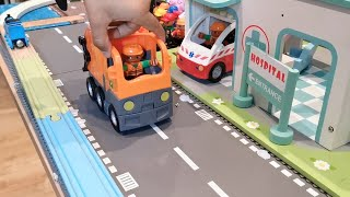 Fire Truck, Tractor, Train, Police Cars, Garbage Trucks & Excavator Toy Vehicles Build Assembly Play
