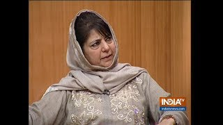 Mehbooba Mufti In Aap Ki Adalat: If US can have talks with Afghan Taliban, why can't India-Pak