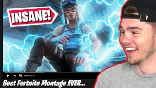 REACTING to my fans FORTNITE MONTAGES... (part 6)