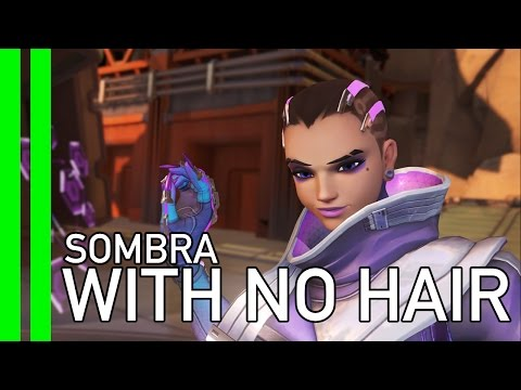 Overwatch Glitch - Sombra WITH NO HAIR? (November 7 PTR)