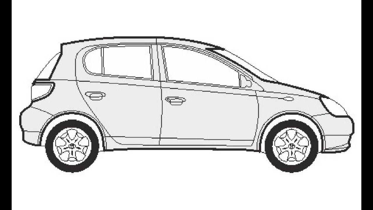 How to Draw a Toyota Yaris / Как нарисовать Toyota Yaris