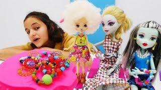 Куклы Энчантималс и их питомцы у Монстр Хай. Игры в куклы