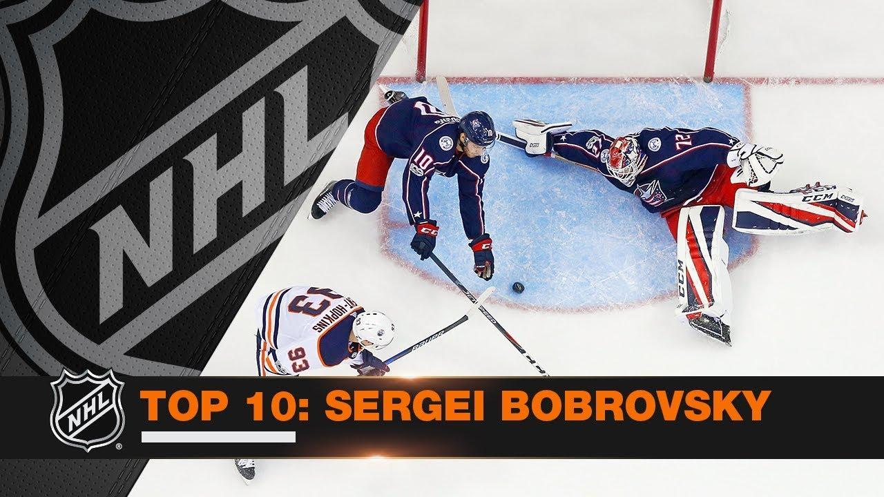 8b884548379b2 Top 10 Sergei Bobrovsky saves from 2017-18 - YouTube