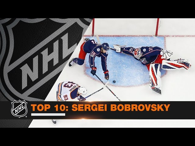 Top 10 Sergei Bobrovsky saves from 2017-18