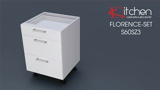 [FLORENCE-SET] Assembly video for 600mm 3 Drawer base unit
