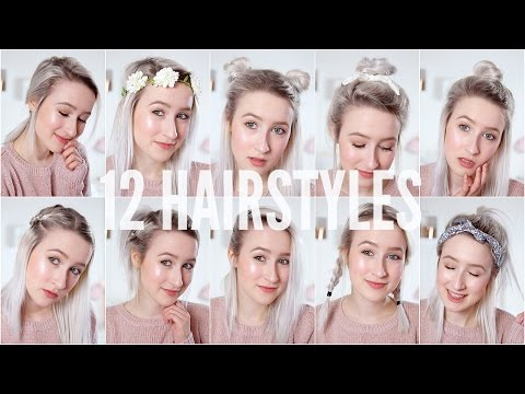12 EASY HEATLESS HAIRSTYLES – Short / Medium Hair | Sophie Louise