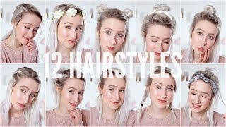 12 EASY HEATLESS HAIRSTYLES - Short / Medium Hair | Sophie Louise