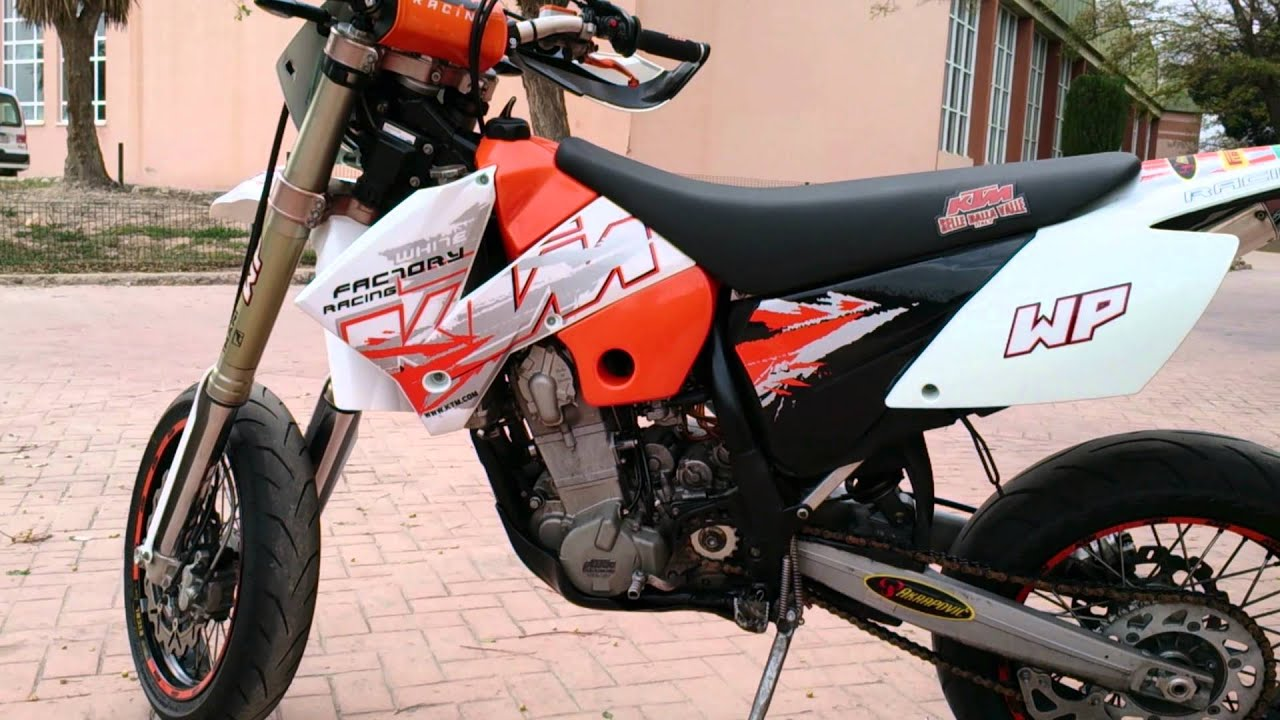 ktm 450 exc factory 2005 supermoto walk around and start youtube. Black Bedroom Furniture Sets. Home Design Ideas