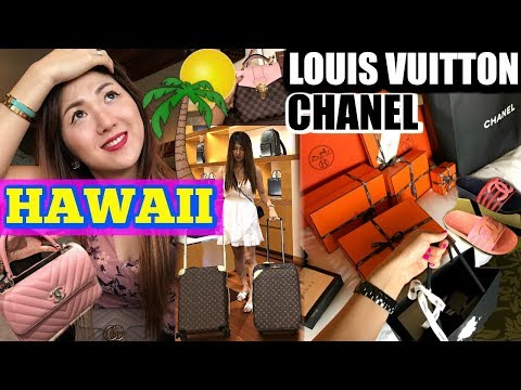 CRAZY FULL SHOPPING DAY IN HAWAII (PART 1)   LOUIS VUITTON, CHANEL, HERMES, ..   CHARIS