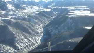 Telluride Airport Winter G-IV Landing - KTEX