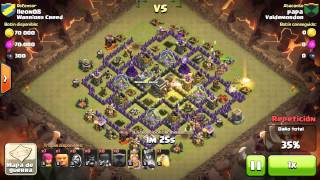 Clash of Clans - papa vs lleon08 - Clan War ValdeMordor vs Warriors Creed