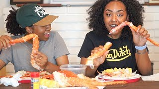 SEAFOOD MUKBANG - Trying KING CRAB for the FIRST TIME!