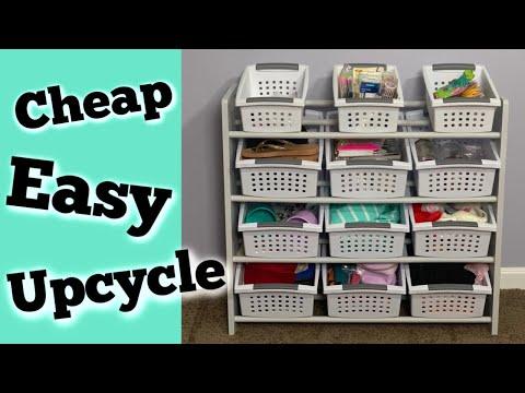 DIY Upcycled Toy Organizer   Craft Room Organization Ideas